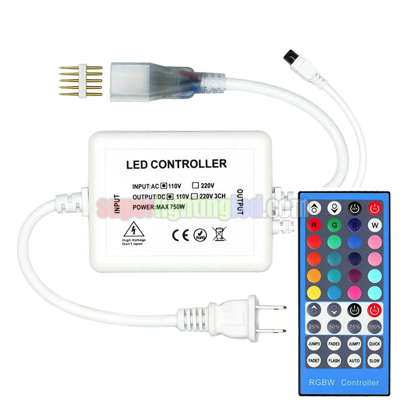 AC110 or 220V, Output960W, 4-Channel 5-PIN, 40 Button Wireless Remote Control High Voltage Controller, for RGBW LED strip light