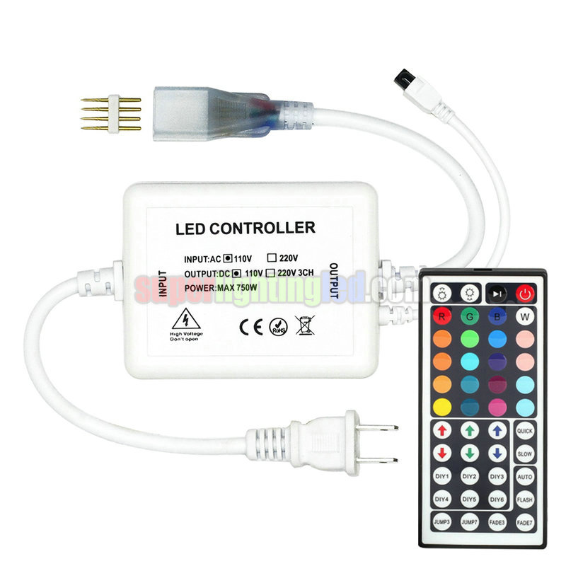 AC110-220V, 44-Keys infrared Remote Control 720W RGB Controller For Waterproof High-pressure 5050SMD LED RGB Light Strips