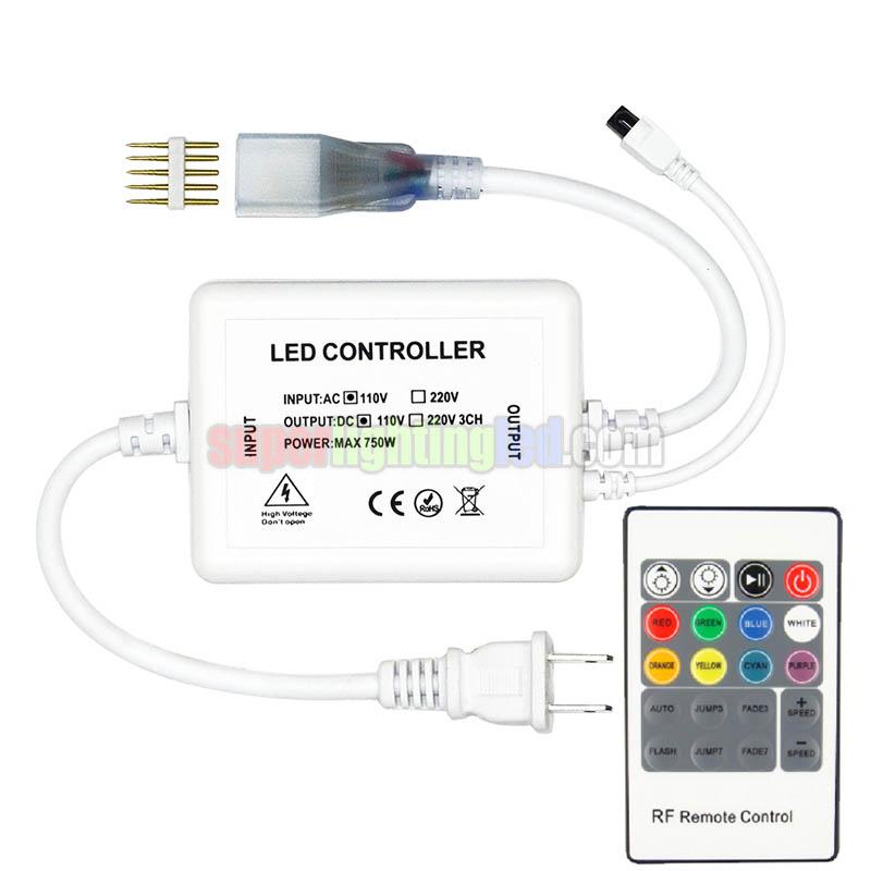 ac110/220v 750w, 20keys ir mini rgb led controller, for home lighting,
