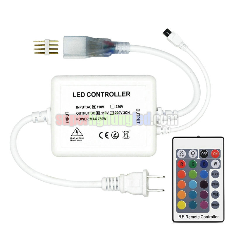 AC110V/220V 700W 24Keys IR 16 Colors Remote RGB Controller, For Outdoor Glass Curtain Wall Lighting Project 5050 SMD LED Strip lights