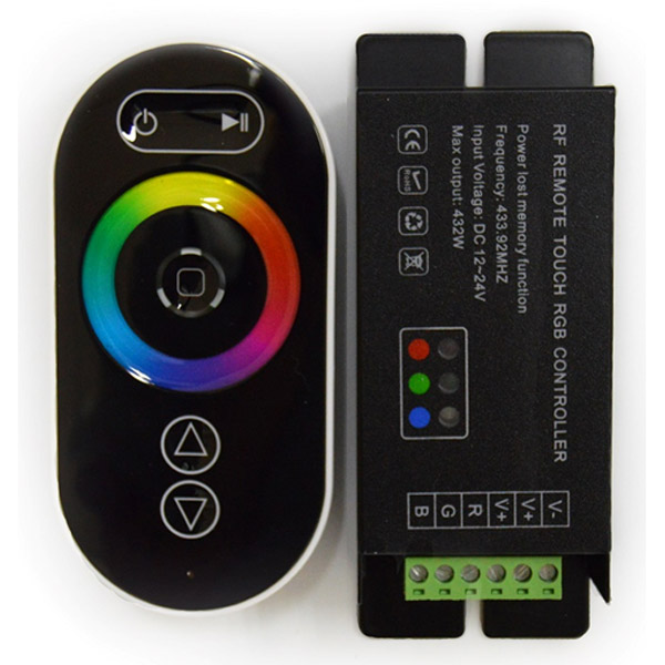 DC12-24V RF Remote Touch RGB Led Controller,RGB Led Driver,Touch Dimmer For LED strip light installation
