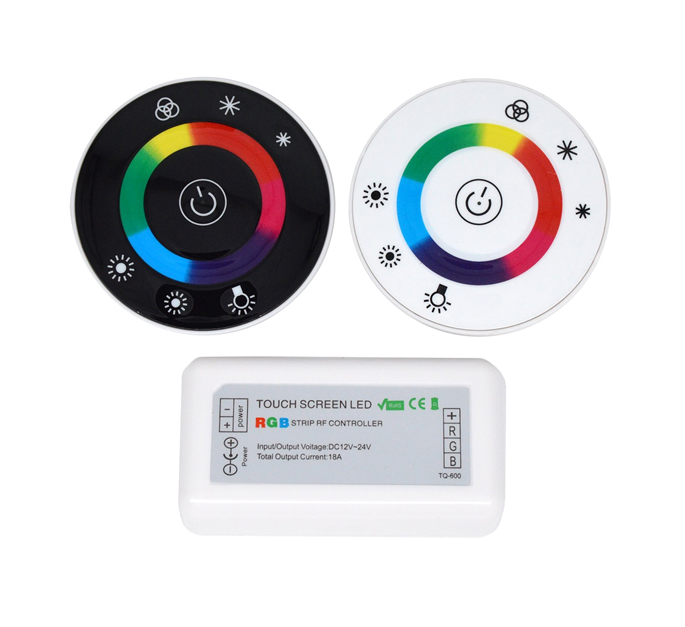 DC12-24V RGB Led Controller Wireless Round Touch Remote Controller For LEDstrip light channel