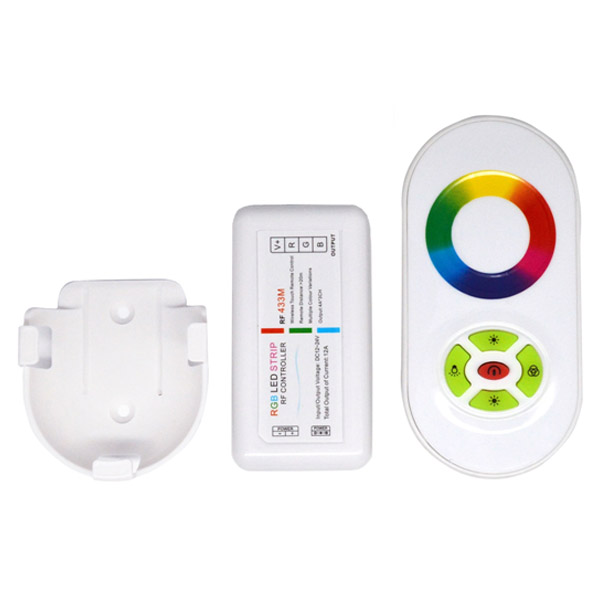 DC12V-24V RF Wireless RGB Led Strip Controller/Dimmer With Wall Mounted and Touch Remote For RGB Led Strip Light