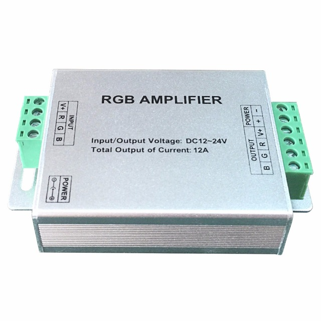 DC12-24V RGB Controler, max 4A/channel , Constant Voltage Amplifier for RGB LED Strip lights