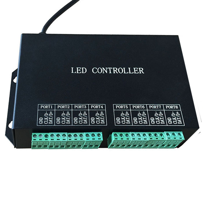 AC220Vfull color programmable controller,WS2811,WS2812 controller,8 ports drive 8192 pixels,support DMX512,WS2812,For digital pixel led strip