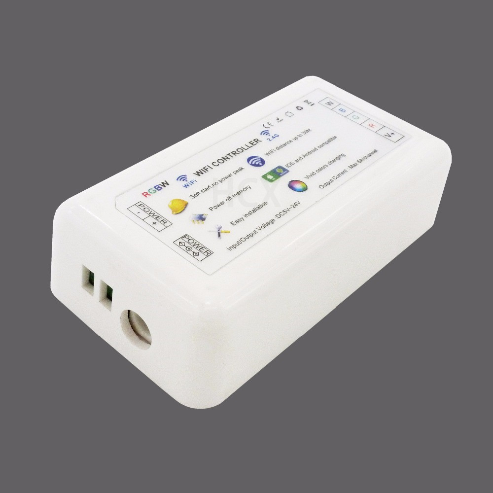 DC5-24V ios android RGBW wifi controller iphone android wifi