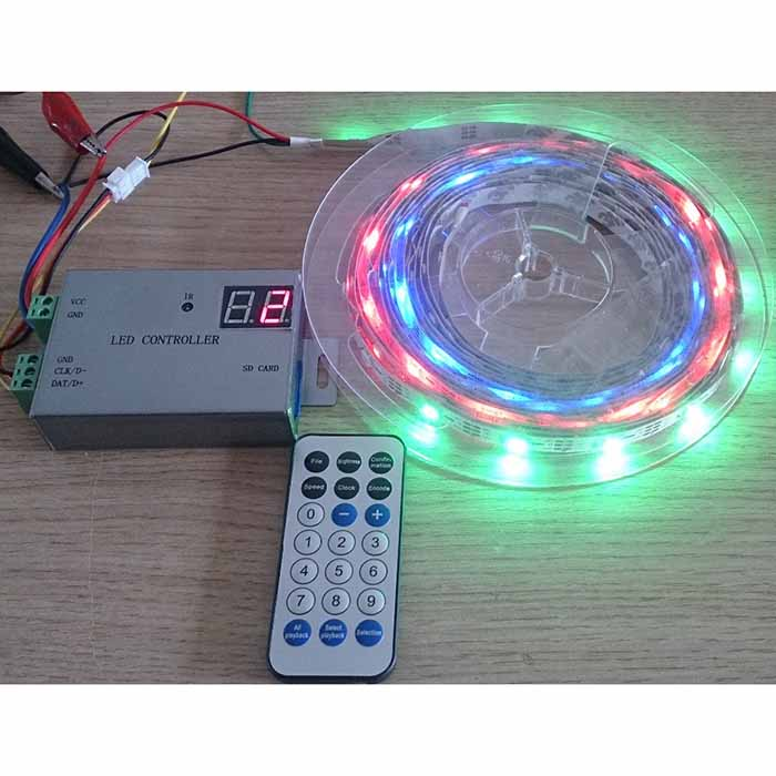 DC12-24V led controller support WS2812,WS2811,APA102,DMX512,etc.1 port control 4096 pixels,wireless controller,remote control For digital pixel led strip