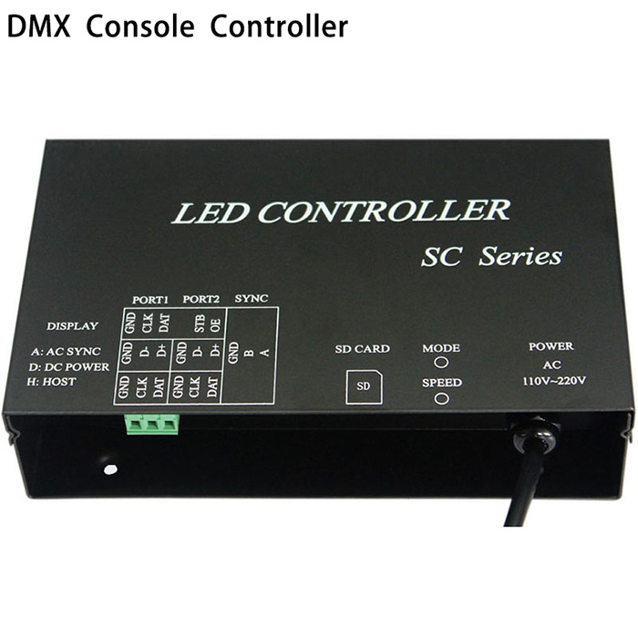 AC 220V LED controller work with DMX512 console occupy 3 channels support dozens of chips WS2812 WS2811 controller strip controller For addressable led strip