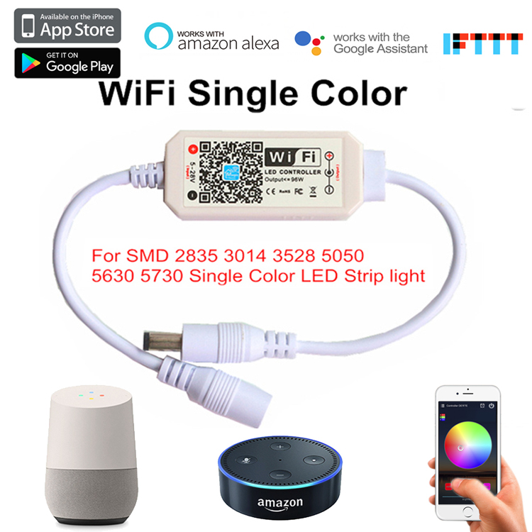 Magic Home Pro App Dc5 28v Wifi Led Pixel Remote Smart Controller Works With Amazon Alexa Google Assistant Home Aligenie And Ifttt Device Suitable For Single Color Led Strip Lights Consc Mhp Wifi