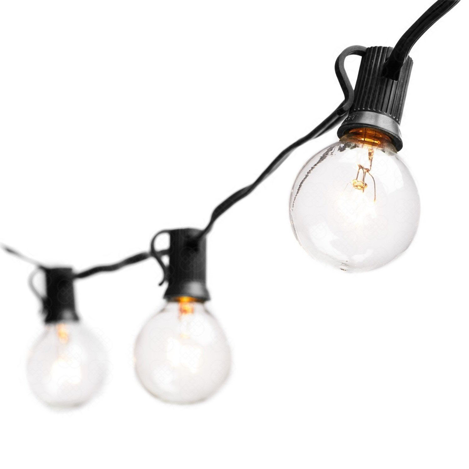 Tungsten Lamp String Lights With G40 Bulbs(25ft