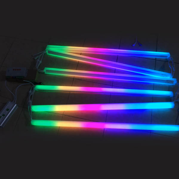 DC24V 10W Waterproof IP67 outdoor use universal engineering programmable addressable led full color pixel guardrail tube lights