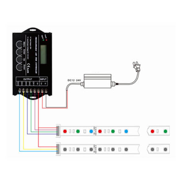 EforLighting RGB LED Controller Time programable TC420 DC12V//24V 5 Channel Total Output 20A Common Anode Programmable