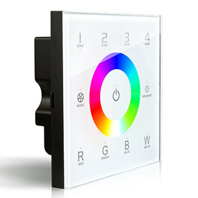 D8, DMX512 4 Zones Control DC12/24V D Series Dimming Touch Panel High-end Controller For RGBW LED Strips Lighting
