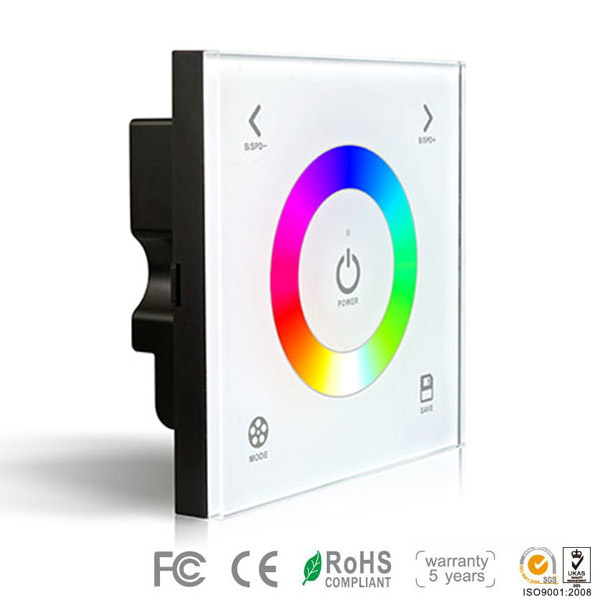 DX3,DX Series,Wireless single zone, Dimming Touch Panel High-end Controller For RGB Color Change Multic Colour LED Strips Lighting, Warranty 5 years