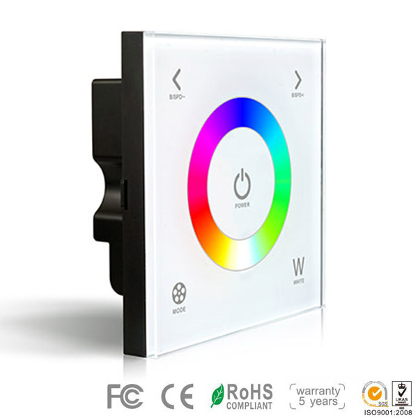 DX4,DX Series,Wireless single zone, Dimming Touch Panel High-end Controller For RGBW Color Change Multic Colour LED Strips Lighting, Warranty 5 years