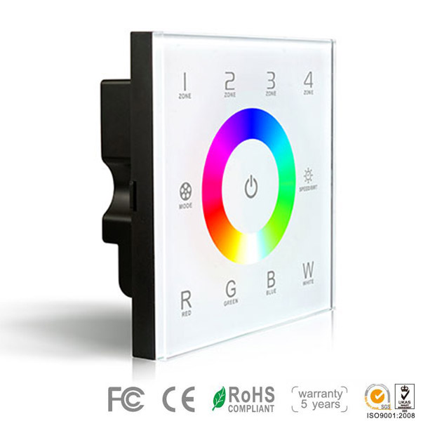 DX8,DX Series,Wireless multi-zone control, Dimming Touch Panel High-end Controller For RGB+White LED Strips Lighting, Warranty 5 years