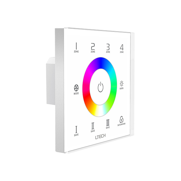 100-240Vac wireless RF and wired DMX512 4 zones RGB Touch Panel EX7S
