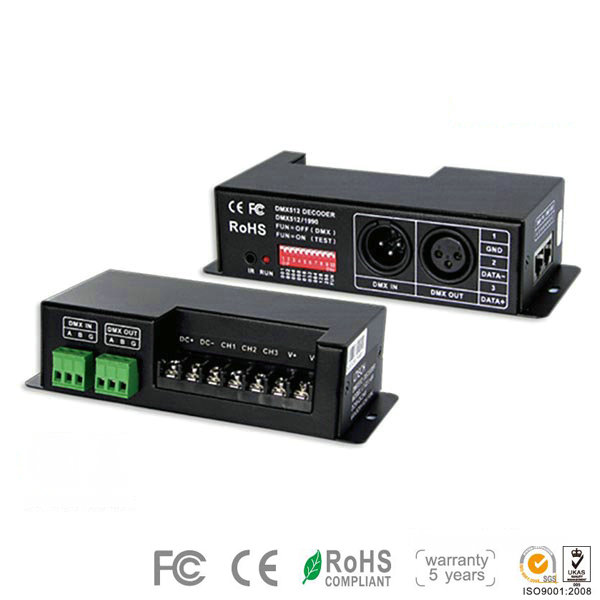 LT-830-700, 3CH CC DMX-PWM Decoder, Green Terminal Interface for LED Flood Lights, 5 Warranty