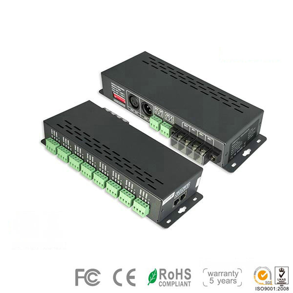 LT-880-350, 16CH DMX Controller, High-end Standard for RGB/RGBW LED Wall Lights, 5 Warranty