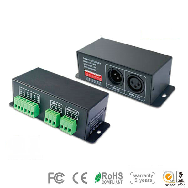 LT-DMX-9813, DMX512 Digital Signal Decoder for LT-DMX-9813 Decoder for Under Cabinet Led Lighting, 5 Warranty