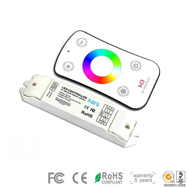 M3+M3-3A, RGB Controller, High-end Controller for RGB Multic Color LED Strips in the Kitchen, Warranty 5 Years