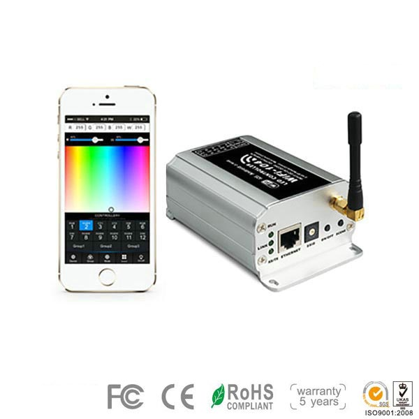 WIFI-104,4A*4CH 16A Max,Supports 12 Zones,High-end Controller Connection By Router,Flexibly Control SC,CT,RGB LED Lgihting fIxture,Warranty 5 years