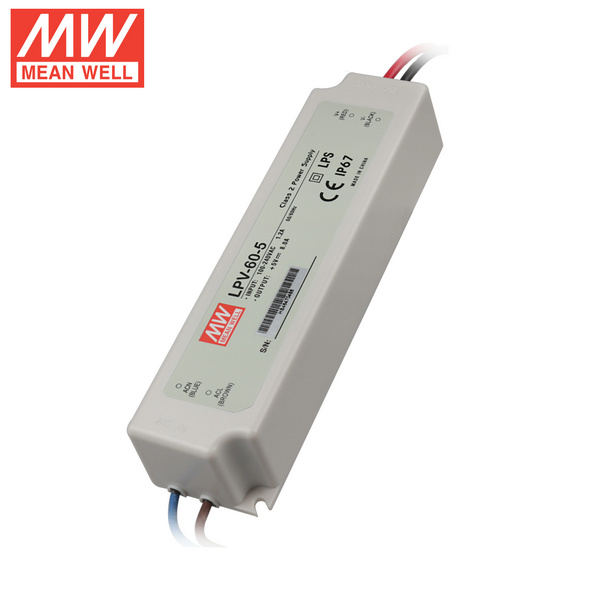 Mean Well LPV-60-5 DC5V 60Watt 12A UL Certification AC110-220 Volt Switching Power Supply For LED Strip Lights Lighting