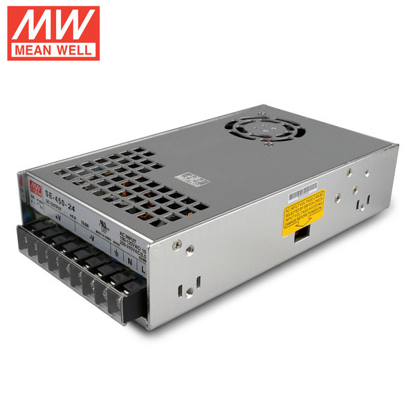 Mean Well SE-450-24 DC24V 450Watt 19A UL Certification AC110-220 Volt Switching Power Supply For LED Strip Lights Lighting