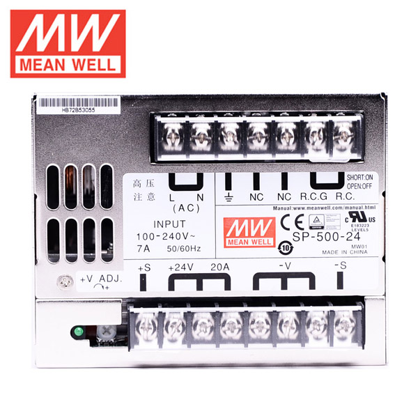 Mean Well  RSP-500-24  DC24V 500Watt 21A UL Certification AC110-220 Volt Switching Power Supply For LED Strip Lights Lighting