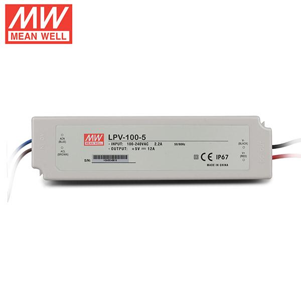 Mean Well LPV 100 5 DC5V 15Watt 20A UL Certification AC110 220 Volt Waterproof IP67 Power Supply For Programmable LED Strip Lights_3 mean well lpv 100 5 dc5v 100watt 20a ul certification ac110 220  at gsmportal.co