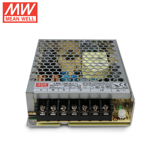 Mean Well LRS-100-5 DC5V 100Watt 20A UL Certification AC110-240 Volt Switching Power Supply For LED Strip Lights Lighting