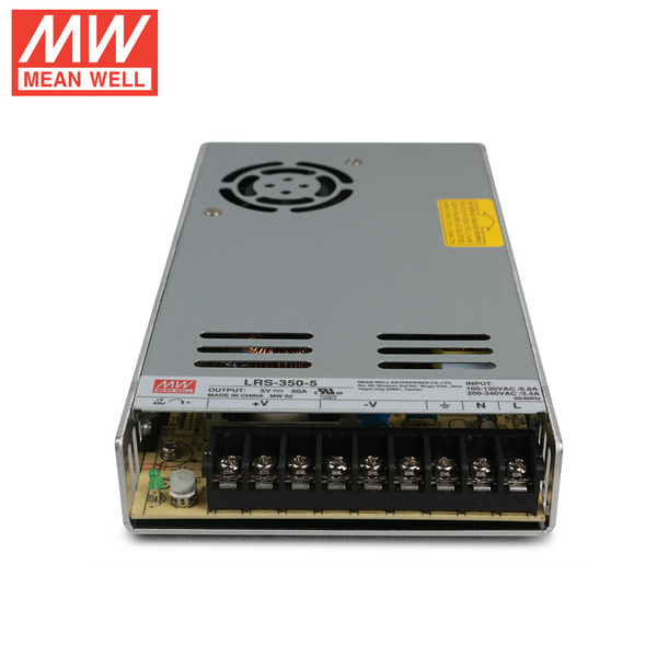 Mean Well LRS-350-5 DC5V 350Watt 70A UL Certification AC110-240 Volt Switching Power Supply For LED Strip Lights Lighting