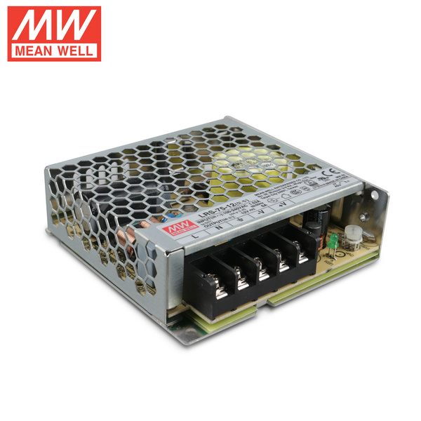 Mean Well LRS-75-12 DC12V 75Watt 6.5A UL Certification AC110-220 Volt Switching Power Supply For LED Strip Lights Lighting