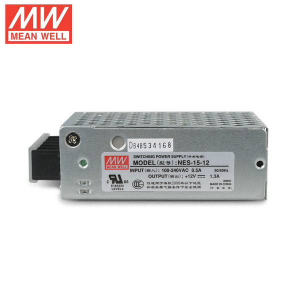 Mean Well NES-15-12  DC12V 15Watt 1.25A UL Certification AC110-220 Volt Switching Power Supply For LED Strip Lights Lighting