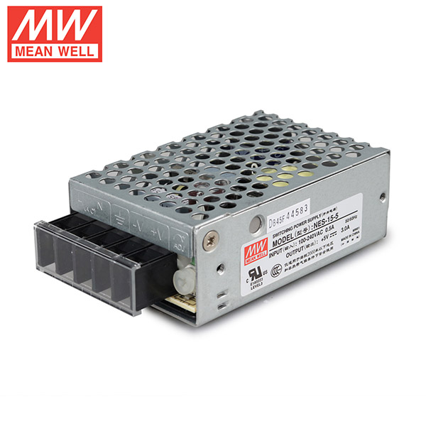 Mean Well NES-15-5 DC5V 15Watt 3A UL Certification AC110-240 Volt Switching Power Supply For LED Strip Lights Lighting