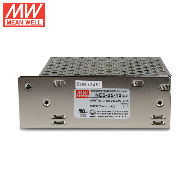 Mean Well NES-25-12 DC12V 25Watt 2A UL Certification AC110-220 Volt Switching Power Supply For LED Strip Lights Lighting