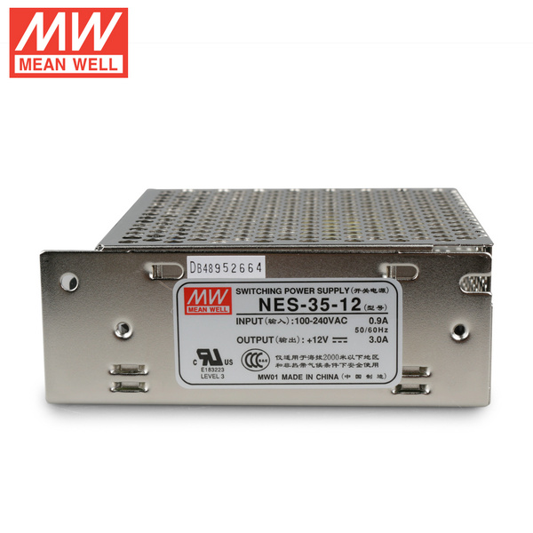 Mean Well NES-35-12 DC12V 35Watt 3A UL Certification AC110-220 Volt Switching Power Supply For LED Strip Lights Lighting