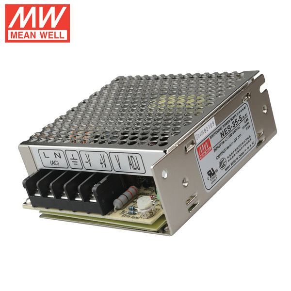 Mean Well NES-35-5 DC5V 35Watt 7A UL Certification AC110-240 Volt Switching Power Supply For LED Strip Lights Lighting