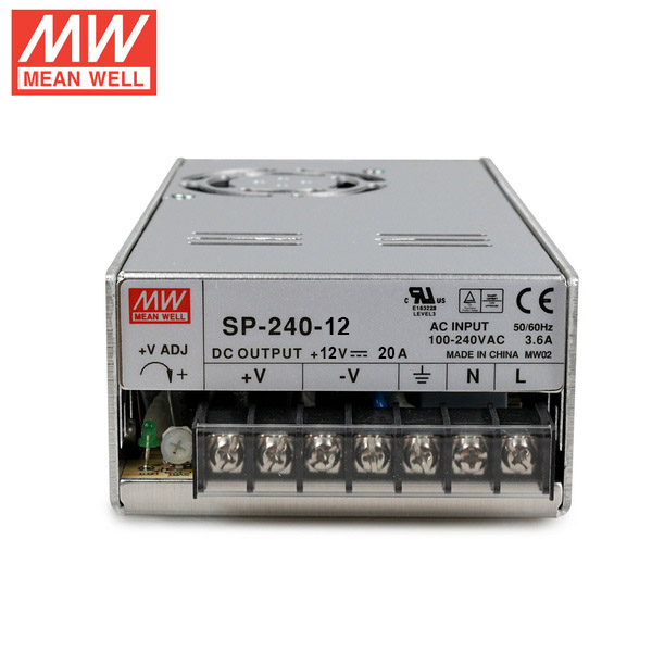 Mean Well SP-240-12 DC12V 240Watt 20A UL Certification AC110-220 Volt Switching Power Supply For LED Strip Lights Lighting