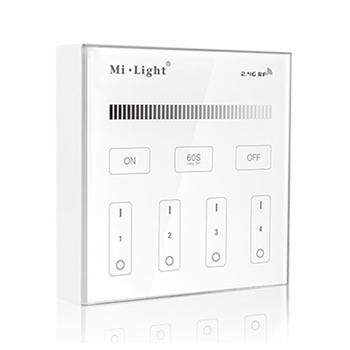 B1 4-Zone Brightness Dimming Smart Panel Remote Controller For Single Color LED Strip Light