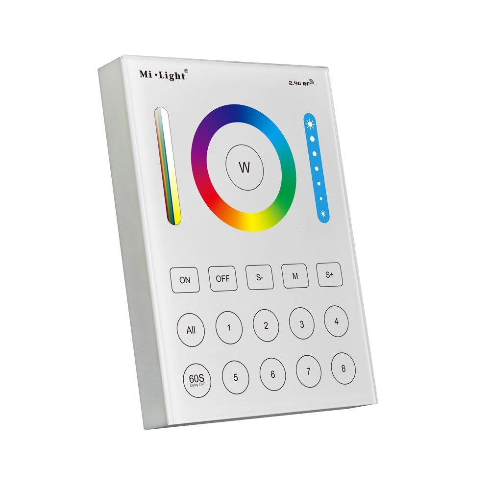 B8 8-Zone Smart Panel Remote Controller For RGB+CCT Single color LED Strip Lights