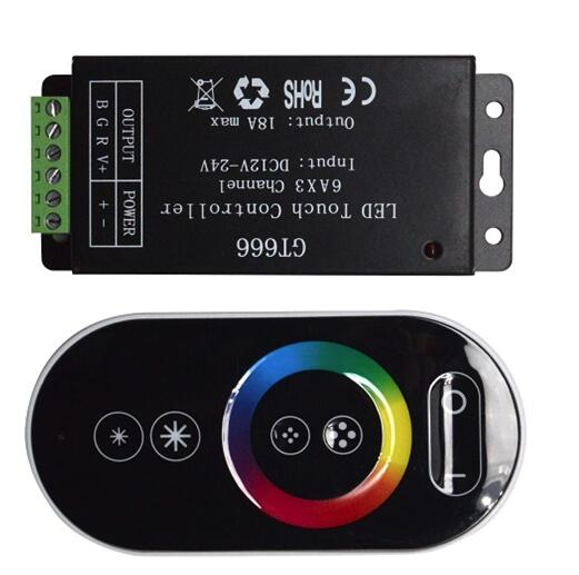 DC12-24V 18A RF Remote Touch RGB Led Controller,RGB Led Driver,Touch Dimmer For LED strip light
