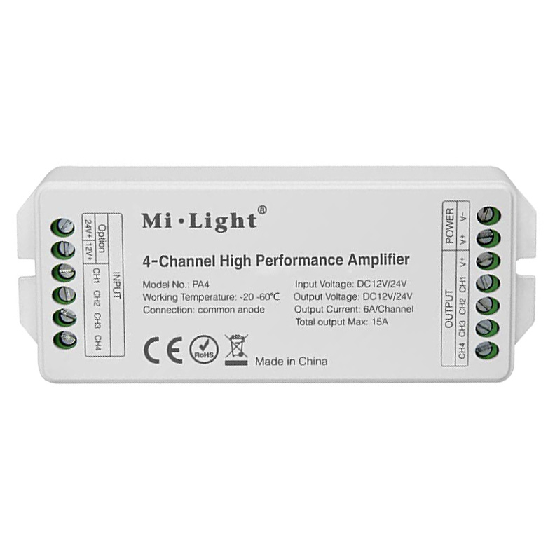 PA4 4-Channel Hight Performance Amplifier For LED strip light kit