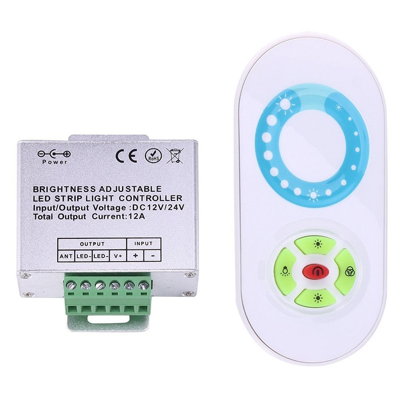 DC12-24Vsingle output Switch RF Wireless LED Strip Controller Half-touch Remote Control