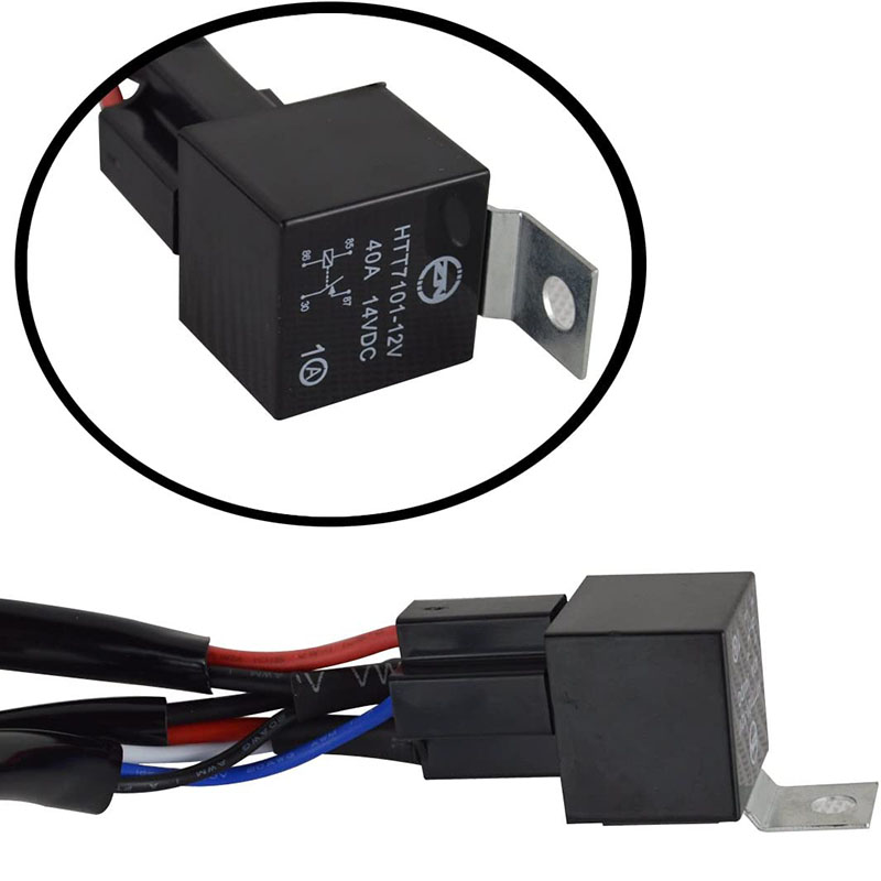 9.84ft/3m 40A LED Light Bar Wiring Harness With Switch and Relay For  Off-Road Lights--Single Head [ORBWIRE01] - $10.99 :superlightingled.com