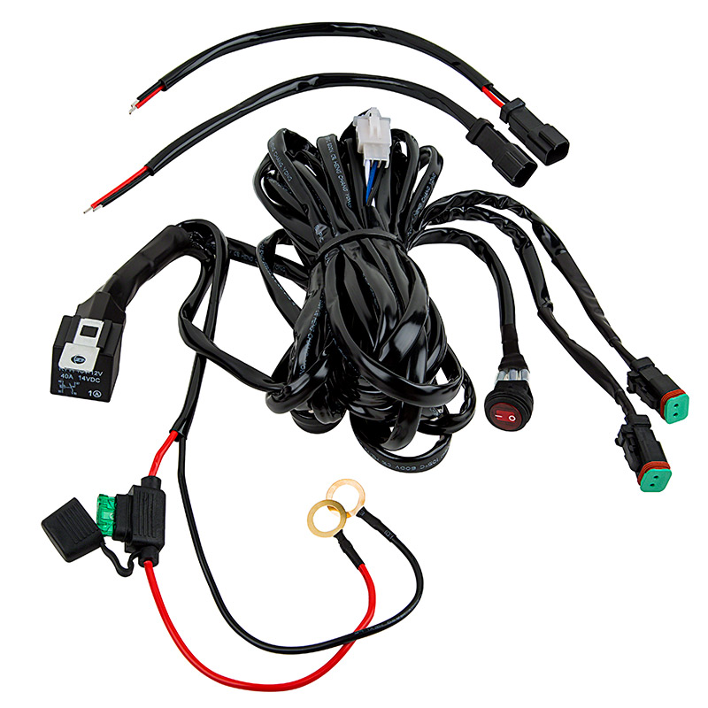 40A Waterproof DT Connector LED Light Wiring Harness with Switch and Relay  - 9.84ft/3m -Single Channel [ORBWIRE02] - $14.99 :Waterproof LED Lights | superlightingled.com