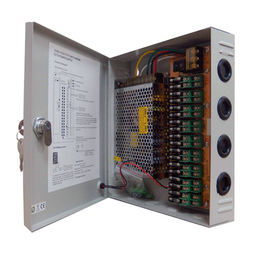 120W 10A 18CH DC12V Output Switch Mode CCTV Distribution Box Portable Power Supply 120w 5a 9ch dc24v output switch mode cctv distribution box 18 Channel CCTV Power Supply at soozxer.org