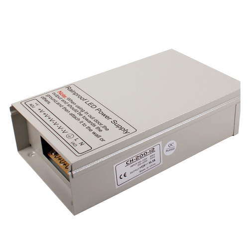200W DC12/24V Rainproof Switching Enclosed LED Driver Transformer Power Supply For LED Lighting