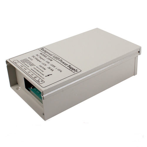 250W DC5/12/24V Rainproof Switching Enclosed LED Driver Transformer Power Supply Fan Cooling For LED Lighting