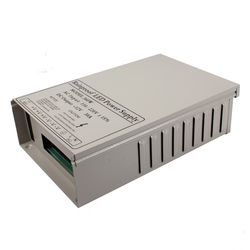 360W DC5/12/24V Rainproof Switching Enclosed LED Driver Transformer Power Supply Fan Cooling For LED Lighting